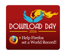 Firefox Download Day 2008 badge